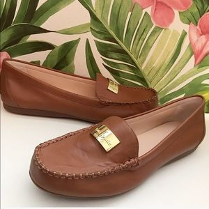 Kate Spade Cognac Brown Leather Corrie Loafer